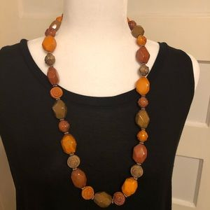 """Jewelry - Vintage Chunky Beaded Necklace 30""""L"""